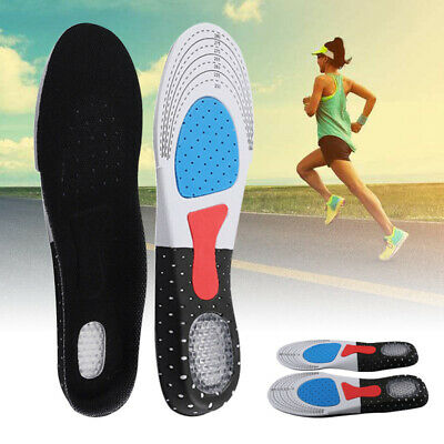 2X Unisex Orthotic Support Shoe Pad Sport Running Gel Insoles Insert Cushion Kit