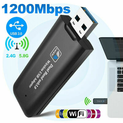 1200Mbps Wireless USB 3.0 5GHz WiFi Network Receiver Adapter Dual Band Dongle UK