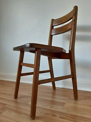Vintage Mid Century Solid Elm Desk Chair