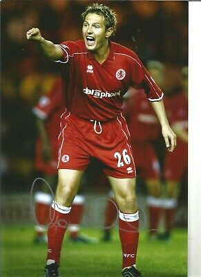 Football Autograph Noel Whelan Middlesbrough Signed 12x8 inch Photograph JM282