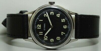 Vintage Cyma Winding Swiss Made Mens Wrist Watch k498 OLD used Antique