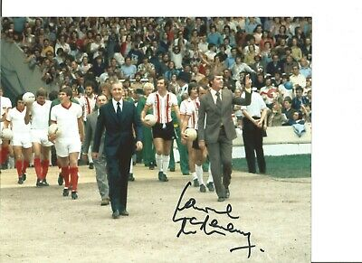 Football Autograph Lawrie McMenemy Southampton Manager Signed 10x8 Photo JM293