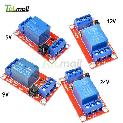 1 Channel Optocoupler Relay Module Support High and Low Trigger DC 5V/9V/12V/24V