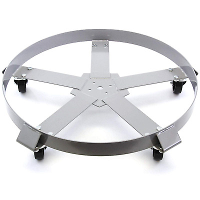 Extra Heavy Duty 55 Gallon Drum Dolly Swivel Casters Steel Frame Non Tip 1250 5