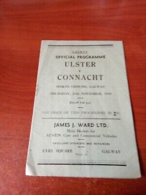 Connacht v Ulster 1949 match programme