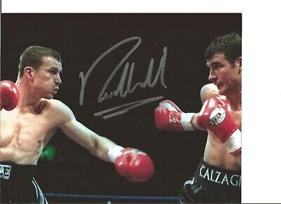 Boxing Autograph Richie Woodhall Signed 10x8 inch Photograph vs Calzaghe JM351