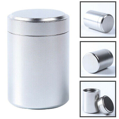 Silver Airtight Proof Container Aluminum Herb Stash Metal Sealed Can Tea Jar ~LP