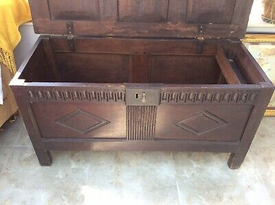Early 19th Century Coffer/Blanket Box. Solid Oak. Victorian Design