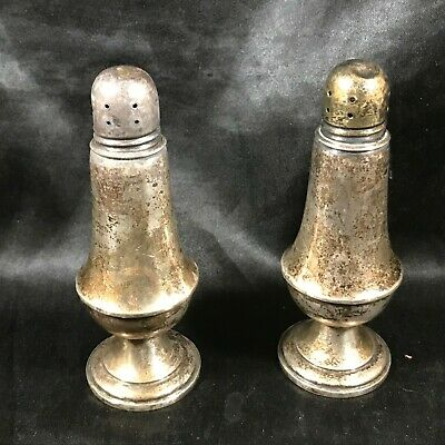 Pair of Vintage ALVIN Weighted Sterling Silver Salt and Pepper Shakers S271