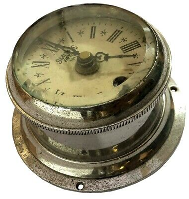 Time Piece Watch Smiths Enfield Brass Ships Clock 1911 Made In England WC 042