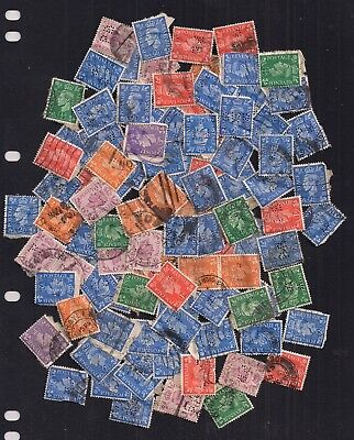 Gb-Gvi-Selection Of Perfins In Stamps.duplicated.nice Sorting Lot.[Read Below].