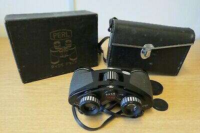 Pair Perl 9 x 35 Binoculars in Carry Case 8.2deg Wide Angle