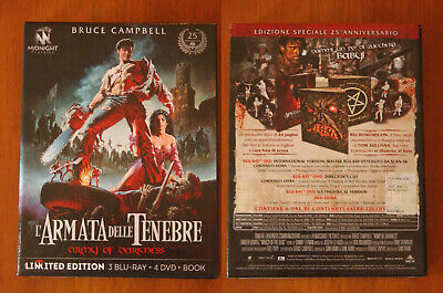 L'ARMATA DELLE TENEBRE cofanetto limited edition 3 bluray + 4 dvd + book