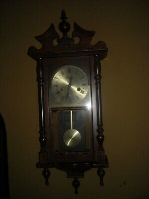 Wentworth 31 day wind up chime wall clock working pendulum