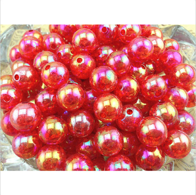 10pcs red Crackle resin Round 12mm Beads Jewelry Findings Craft Bead Supply