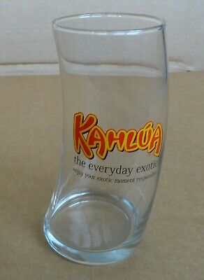 """Kahlua One Pint Curved Mudslide or White Russian Glass """"The Everyday Exotic"""""""