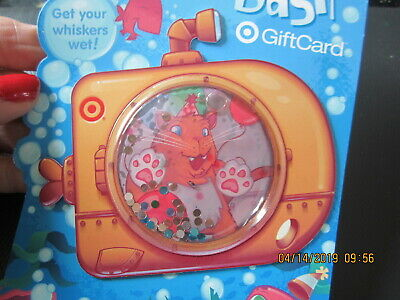 CAT in SUBMARINE SNOW GLOBE TYPE TARGET swap trade collect NO VALUE GIFT CARD