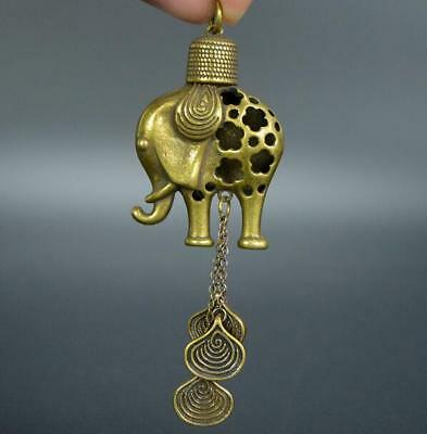 Collection old Asian Antiques brass Exquisite elephant Small pendant