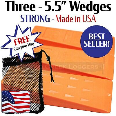 """3 - 5.5 """" USA HARD Plastic Felling Bucking Tree Forestry Chainsaw Spiked Wedges"""
