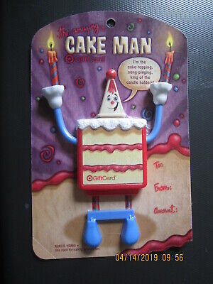 CAKE MAN CAKE TOPPER   TARGET swap trade collect NO VALUE GIFT CARD