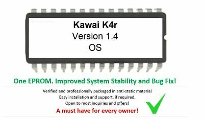 Kawai K4r - Version 1.4 Firmware Update Upgrade OS Eprom for K4-R rack Synth