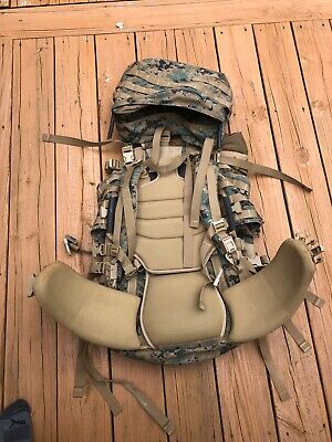 Used  USMC GEN 2 ILBE MAIN PACK w LID and BELT COMPLETE