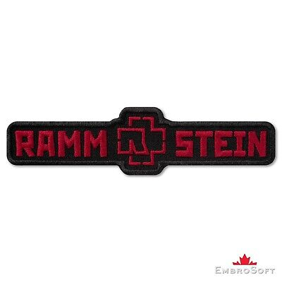 """Rammstein Logo Black and Red Music Rock Band Embroidered Patch Iron On 4.6ʺx1.2"""""""