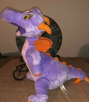 Disney Parks FIGMENT Plush Purple Dragon Epcot Mascot Stuffed Animal Toy