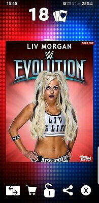 Topps WWE Slam Digital Card 100cc Liv Morgan Women's Evolution 2018
