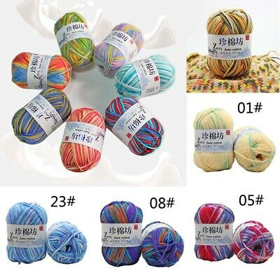 Yarn Colors Wool Cotton Knitting Chic 30 Hand Baby Crochet Soft DIY Milk