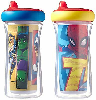 The First Years Marvel Superhero Adventures Hero Insulated Sippy Cups, 2 Pack