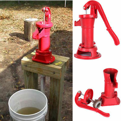 Hand Water Shallow Well Pump Pitcher Cast Iron Press Suction Outdoor Yard 25ft