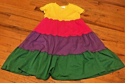 Hanna Andersson Little Girls Size 8 Gorgeous Multi Color Twirl Dress