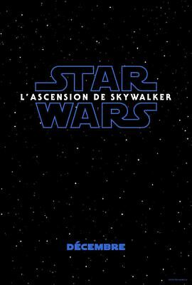 "Affiche du film ""Star Wars: L'Ascension de Skywalker"" préventive 120 x 160 cm en"