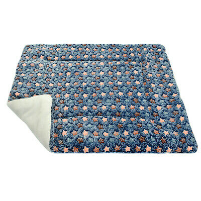 Reversible Dog Bed Mat Soft Fleece Kennel Washable Cushion Winter Sleeping Crate