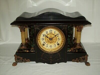 Nice Antique ~ Seth Thomas ~ Key Wind Pendulum Mantle / Shelf Clock ~ Works !