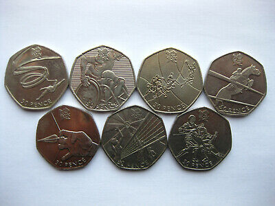 London Olympic 2012 Fifty 50p Coins Circulated Wheelchair Rugby Archery 03