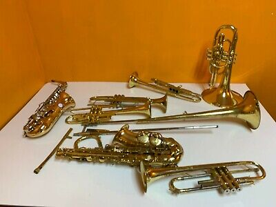 LOT of Brass Instruments(Horn,Trumpets,Sax and trombone)