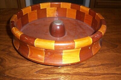 -Wooden Bowl-Made From Redwood Forests-San Francisco,Ca.-Standard Specialty Co.-