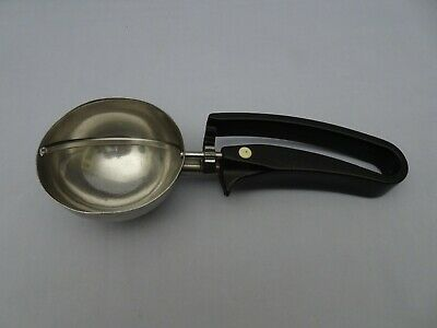"""Zeroll Hot Cold Food Ice Cream Scoop Black Handle 3"""" Bowl Size 6"""