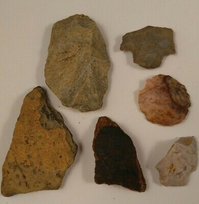 Lot of Native American Indian Artifact Stone Tools Arrowheads Pottery Shards D7