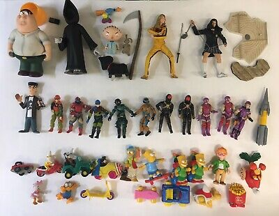 Action Figure Loose Lot, GI Joe, Burger King, McDonalds, Family Guy