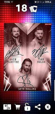 Topps WWE Slam Digital Card 75cc Seth Rollins Finn Balor Drew signature 2019