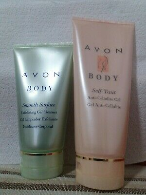 Avon Cellusculpt Anti Cellulite Gel&Smooth Surface Exfoliating Gel Cleanser Rare