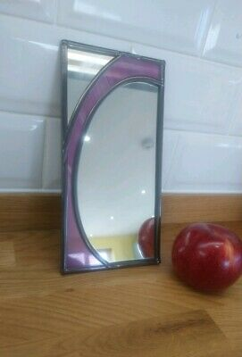 Vintage / Art Deco style Stained Glass Mirror