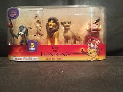 Disney The Lion King 5 Piece Collectible Figure Set 2019 Movie Free Shipping