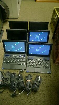 """Lot of 7 Dell Latitude 2110 2120 Atom N550 Windows 7 10.1"""" Laptops (See Notes)"""