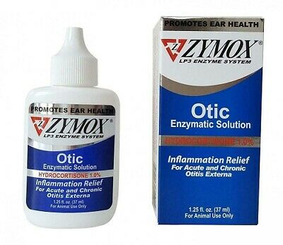 Zymox Pet King Brand Otic Ear Treatment with Hydrocortisone 1.25oz EXP-04/2022