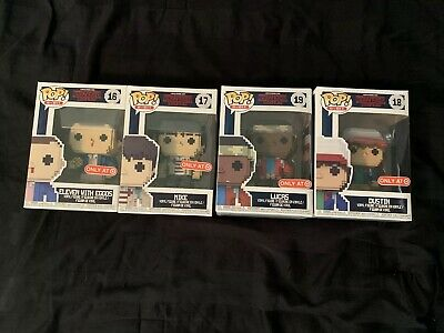 Target Exclusive Stranger Things 8-Bit Funko Pop Lot (Eleven,Mike,Dustin,Lucas)