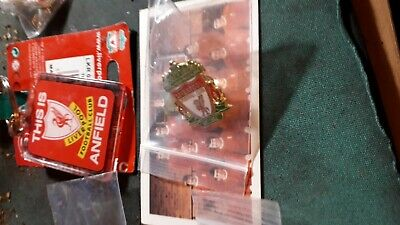 Liverpool Fc Package 3, Enamel Pin Badge Daily Mirror Squad Card Keyring All New